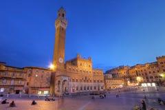 Palazzo Publico en Piazza del Campo, Sienne, Italie photos libres de droits