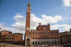 Palazzo Publico in Piazza del Campo, Siena, Italy Stock Image