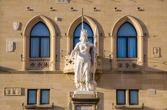 Palazzo Publico San Marino Royalty-vrije Stock Fotografie