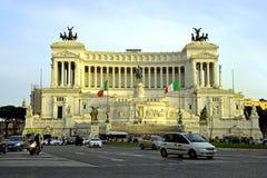 Palazzo quadrato del monumento di Venezia Italia Roma Immagine Stock Libera da Diritti