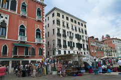 Palazzo on the Quayside in Venice Italy Stock Photos