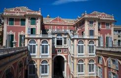 Palazzo Reale στη Γένοβα, Ιταλία, η Royal Palace, στην ιταλική πόλη της Γένοβας, περιοχή παγκόσμιων κληρονομιών της ΟΥΝΕΣΚΟ, Ιταλ στοκ εικόνα