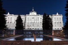 Palazzo reale alla notte Fotografia Stock