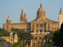 Palazzo reale a Barcellona Fotografie Stock