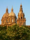 Palazzo reale a Barcellona Fotografia Stock Libera da Diritti