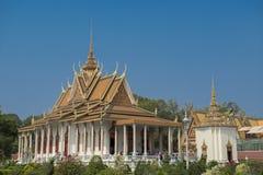 Palazzo reale della pagoda dell'argento di Phnom Penh Immagini Stock Libere da Diritti