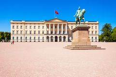 palazzo reale di Oslo, Norvegia Fotografia Stock