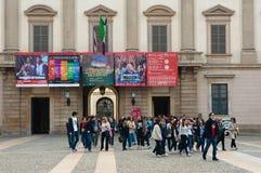 Palazzo Reale en Milano Foto de archivo