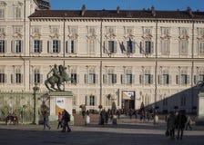 Palazzo Reale en Turín Foto de archivo libre de regalías