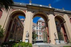Palazzo Reale a Genova, Italia, Royal Palace nella città italiana di Genova, sito del patrimonio mondiale dell'Unesco, Italia fotografia stock libera da diritti