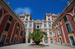 Palazzo Reale in Genua, Italië, Royal Palace in de Italiaanse stad van Genua, Unesco-de Plaats van de Werelderfenis, Italië royalty-vrije stock afbeelding