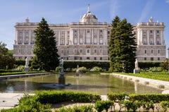 Palazzo reale a Madrid, Spagna Fotografia Stock