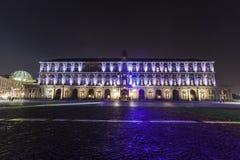 Palazzo reale, piazza plebiscito, Napels Royalty-vrije Stock Foto