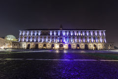 Palazzo reale, piazza plebiscito , naples Royalty Free Stock Photo
