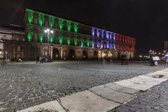 Palazzo reale, piazza plebiscito , naples Royalty Free Stock Photos