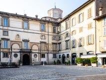 Palazzo Roncalli dans la ville de Bergame image stock