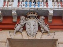Palazzo Rosso в Генуе Италии стоковое фото