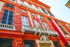 Palazzo Rosso, Genua, Italië stock fotografie