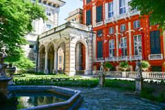Palazzo Rosso, Genua, Italien Royaltyfri Bild