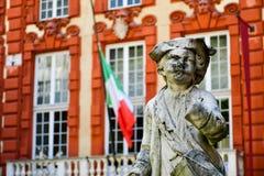 Palazzo Rosso, Genua, Italien Arkivfoton