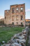 Palazzo in rovine di Valsain o di Balsain a Segovia, costruite in Spagna del XIV secolo fotografie stock
