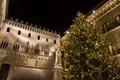 Palazzo Salimbeni in Siena, Italië Stock Afbeelding