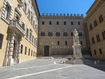 Palazzo Salvemini and square in Siena Stock Image