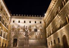 Palazzo Sambieni at night Royalty Free Stock Image