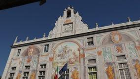 Palazzo San Giorgio och den h?gst?mda v?gen arkivfilmer