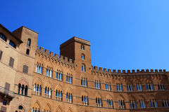 Palazzo Sansedoni, Siena. The palazzo Sansedoni on the piazza del Campo in Siena, Italy Stock Photo