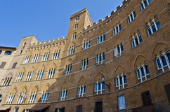 Palazzo Sansedoni in Siena - Italy. Palazzo Sansedoni house of the Monte dei Paschi di Siena Foundation, found in Piazza del Campo Stock Photography