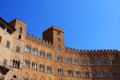 Palazzo Sansedoni, Sienne Photo stock
