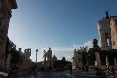 Palazzo Senatorio -令人惊讶的罗马,意大利正方形  免版税图库摄影