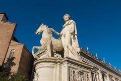 Palazzo Senatorio -令人惊讶的罗马,意大利 免版税图库摄影