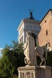 Palazzo Senatorio -令人惊讶的罗马,意大利 免版税库存照片