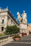 Palazzo Senatorio -令人惊讶的罗马,意大利 库存照片