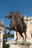Palazzo Senatorio -令人惊讶的罗马,意大利 图库摄影