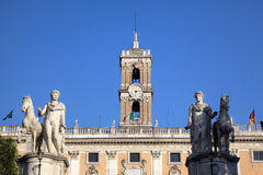 Palazzo Senatorio at Capitoline Hill. Royalty Free Stock Image