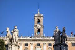 Palazzo Senatorio en la colina de Capitoline. Imagen de archivo libre de regalías