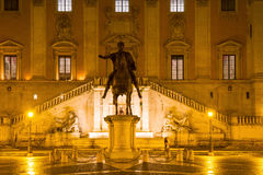 Palazzo Senatorio at night Royalty Free Stock Image