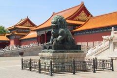 Palazzo severo a Pechino Immagini Stock