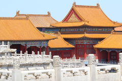 Palazzo severo a Pechino Fotografia Stock Libera da Diritti