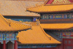 Palazzo severo a Pechino Immagini Stock Libere da Diritti