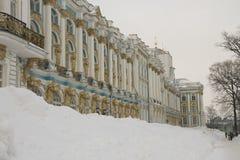 Palazzo sotto la neve Fotografia Stock