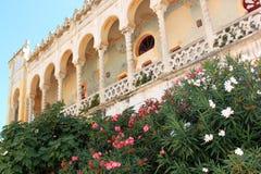 Palazzo Sticchi, Santa Cesarea Terme, Puglia, Italy. The moresque Palazzo Sticchi is one of the finest examples of art nouveau architecture in Apulian Santa Stock Image