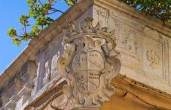 Palazzo storico Bisceglie La Puglia L'Italia Fotografie Stock Libere da Diritti