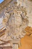 Palazzo storico Bisceglie La Puglia L'Italia Immagine Stock Libera da Diritti