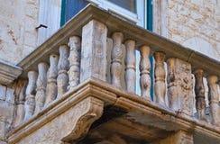 Palazzo storico Bisceglie La Puglia L'Italia Fotografie Stock