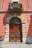Palazzo storico Brienza La Basilicata L'Italia Fotografia Stock Libera da Diritti