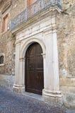 Palazzo storico Brienza La Basilicata L'Italia Immagini Stock Libere da Diritti